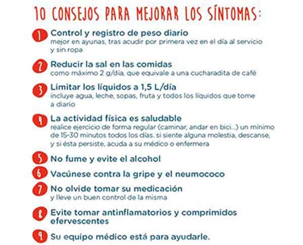 Figura 8. Consejos para mejorar los síntomas.