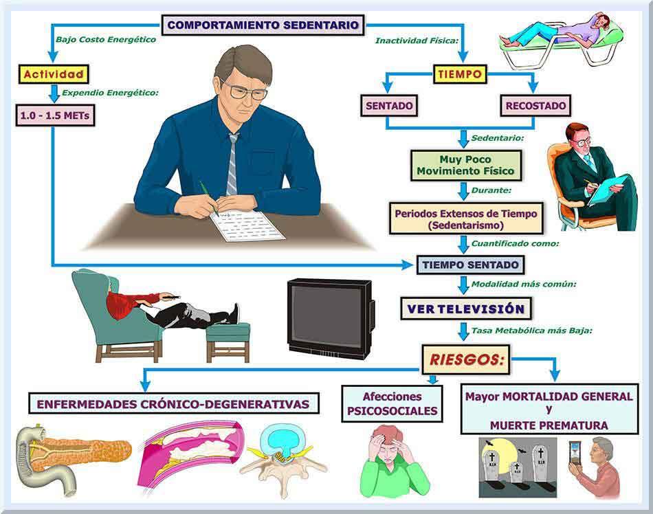 Figura 3. El sedentarismo es un factor de riesgo importante para nuestra salud